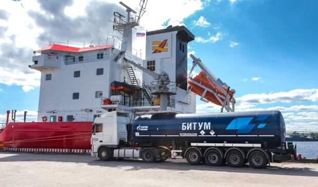 Первая партия битума «Газпром нефти» приплыла горяченькой вСкандинавию
