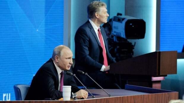 Песков озвучил причину регулярных появлений Путина в телеэфире