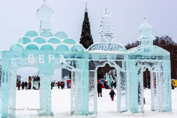 На Центральной площади Ижевска 9 марта начнут сносить ледовый городок