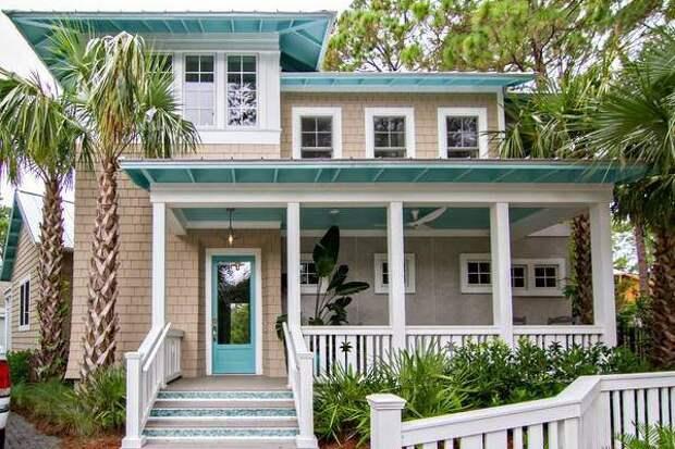 Бежевый и голубой - в какой цвет покрасить дом