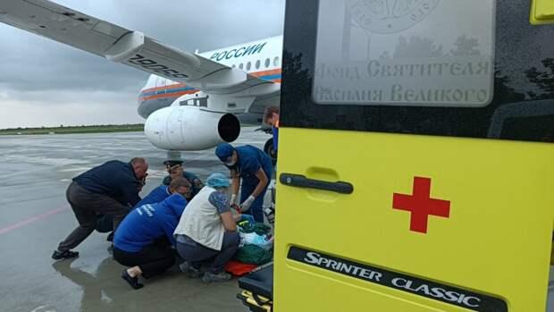 В Севастополе ребёнка с сильными ожогами направили в Москву бортом санавиации МЧС