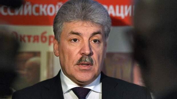 Грудинин выступил за то, чтобы принять ЛДНР в состав России