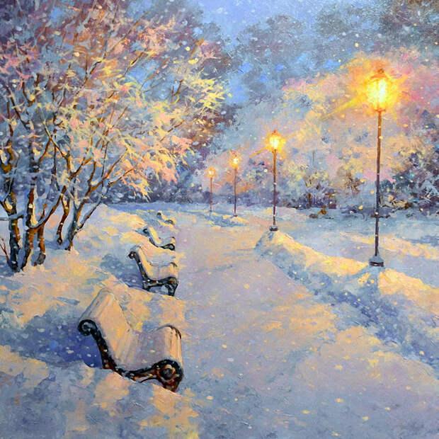Прекрасные зимние пейзажи Дмитрия Лёвина