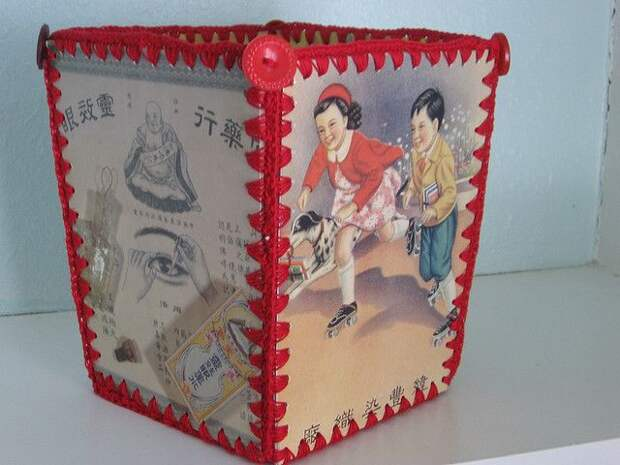 Vintage Greeting Card Baskets - a gallery on Flickr