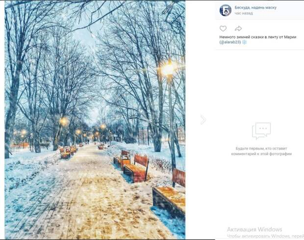 Фото дня: «зимние светлячки» парка имени Федорова