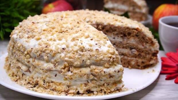 Торт Белочка. Аппетитный десерт с орехами 2