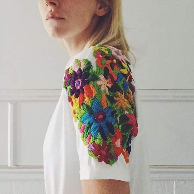 Вышитые футболки (подборка)