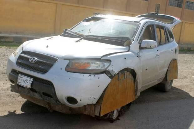Hyundai Santa Fe напичканный взрывчаткой hyundai, бомба, взрывчатка, терроризм