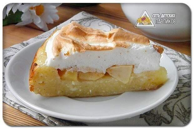 Яблочный пирог на творожном тесте.