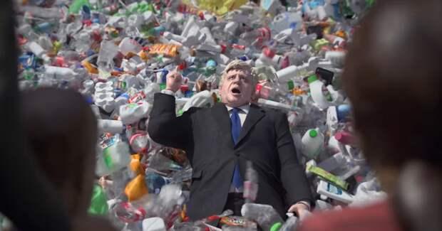 Greenpeace завалила мусором лживых политиков