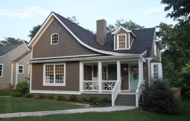 Темный серый цвет дома и крыши - фото частных домов 2016