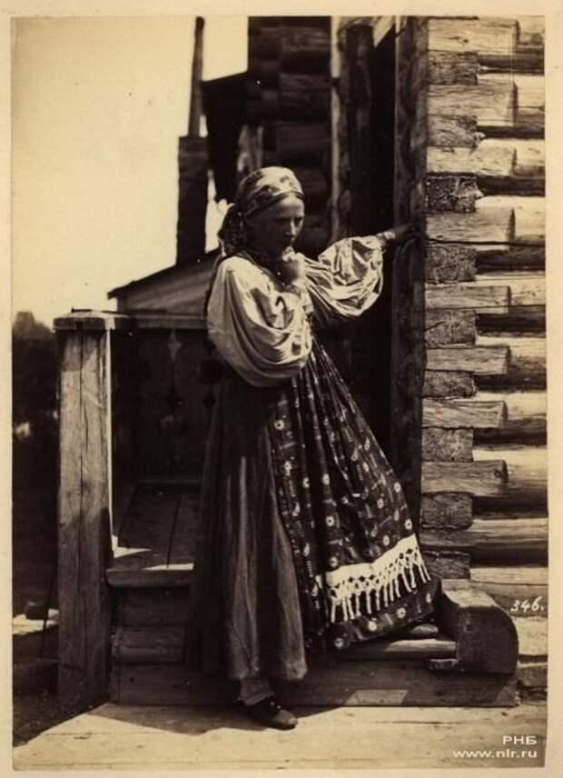 Крестьянка Тверской губернии. 1870-е Крестьяне, россия, старые фото