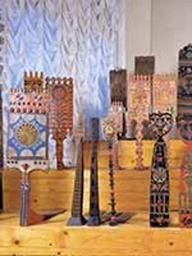 Прялки из коллекции Русского музея