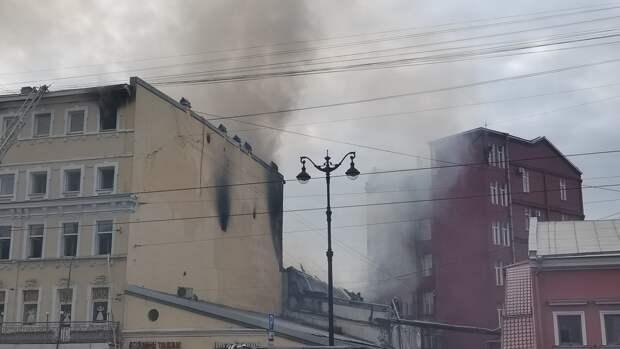 Пожару на Лиговском проспекте присвоили третий ранг сложности