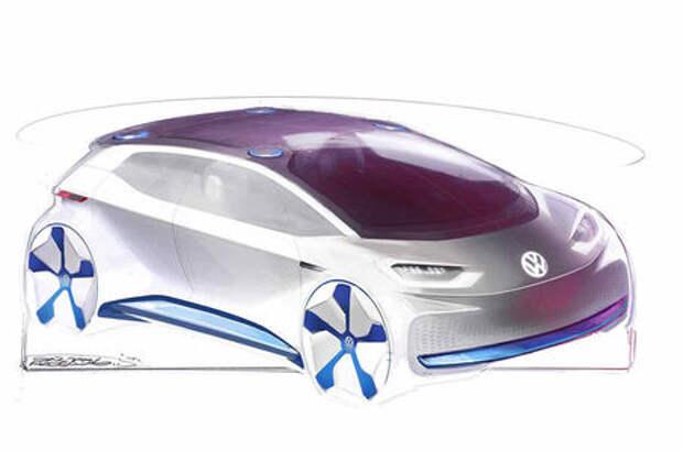 VW показал скетчи нового электрокара