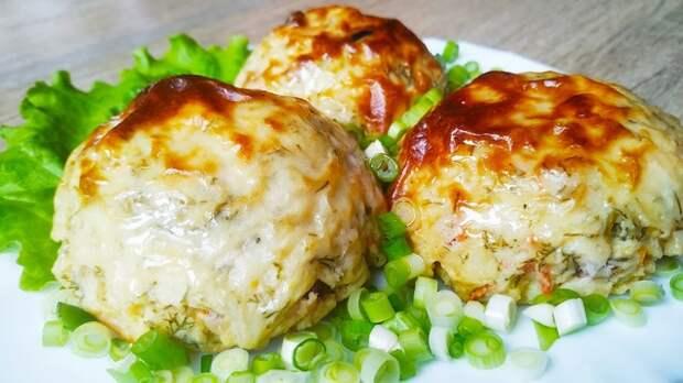 Горячее блюдо из картофеля с начинкой