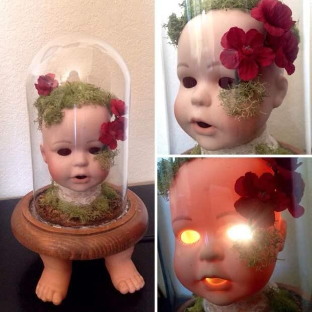 22. Лампа из куклы вещь, креатив, подборка, самоделки, своими руками, сделай сам, фото
