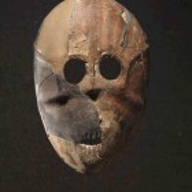 Mask, Horvat Duma, Pre- Pottery Neolithic B, 9,000 years old. (photo credit: Elie Posner/Israel Museum, Jerusalem)