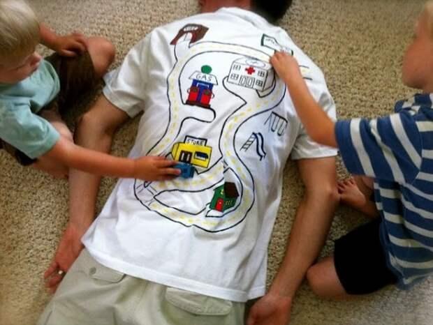 9. Папа устал - папа хочет спать дети, крутые родители, фото, юмор