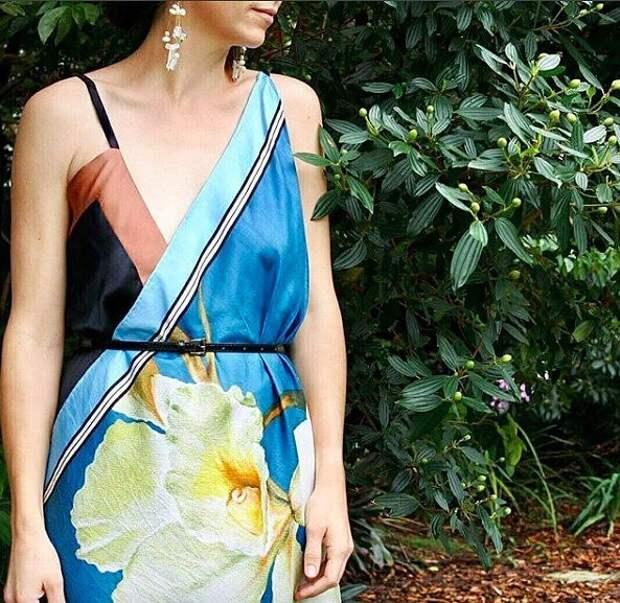 Платья из шелковых платков