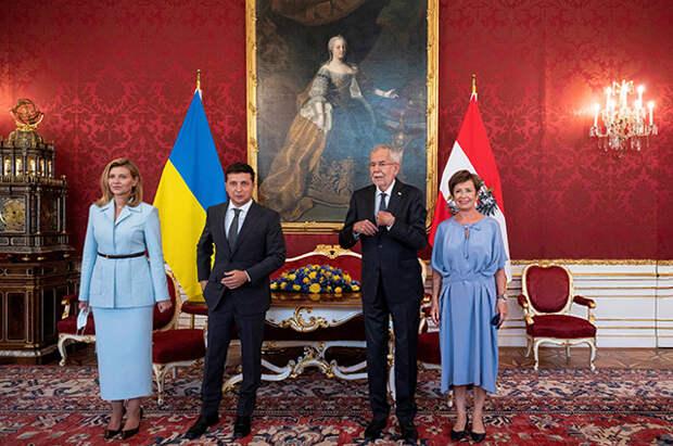 Владимир и Елена Зеленские прибыли с официальным визитом в Австрию