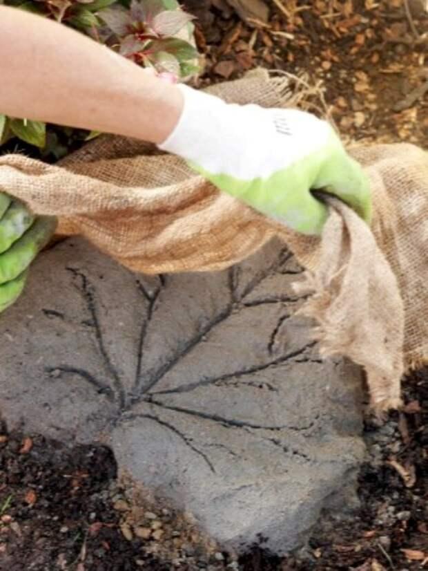 Оригинальная садовая дорожка своими руками - мастер-класс