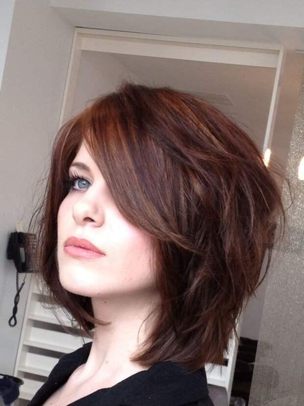 Стрижка лесенка на короткие волосы