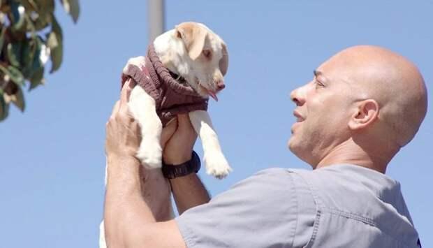 мужчина с собакой