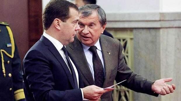 Сечин пожаловался на снижение прибыли и убытки нефтяных компаний в письме Медведеву