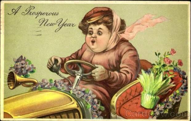 Странные старинные рождественские открытки