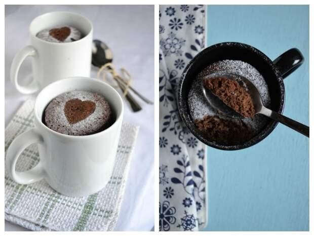 Кофейно-шоколадный кекс в кружке