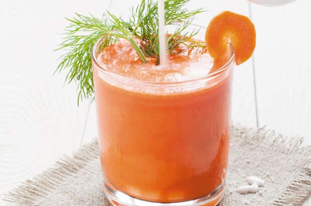 Морковно-сельдерейный фреш со сливками