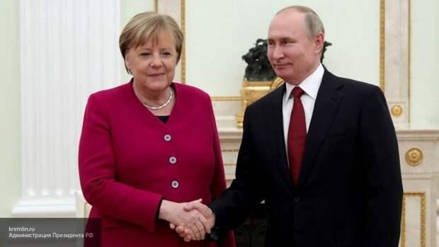 Путин и Меркель осудили попытки Украины сорвать Минские соглашения