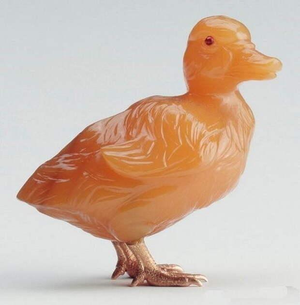 Камнерезные фигурки птиц фирмы Фаберже из королевской коллекции, фото № 24
