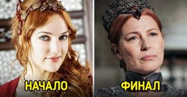 Как выглядели персонажи при первом и последнем появлении в культовых сериалах