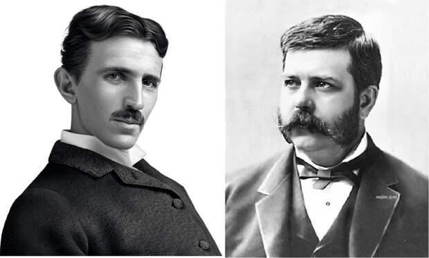 Бизнес-партнеры Никола Тесла и Джордж Вестингауз.