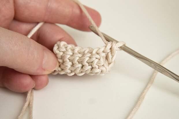 Вязание плотного шнура крючком