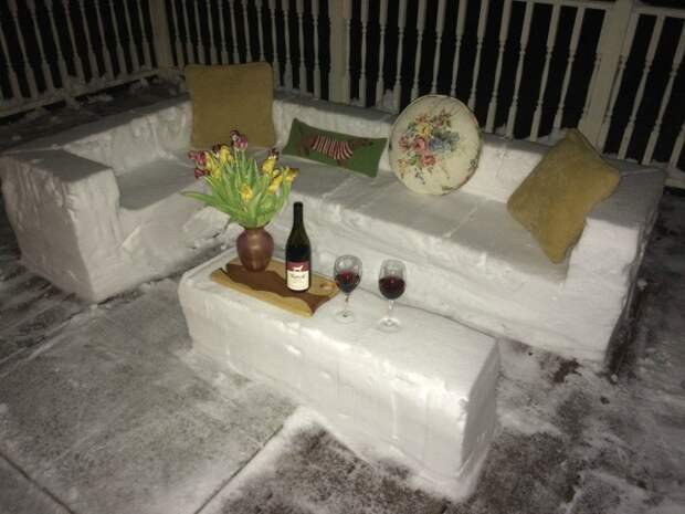 мебель из снега