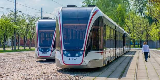 Трамвайная остановка  у метро «Войковская» восстановлена после аварии маршрута №31