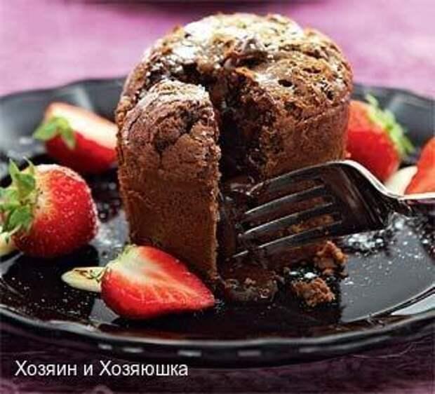 Французский кекс с жидким шоколадом