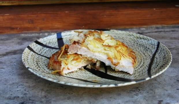Свинина в жареной картошке