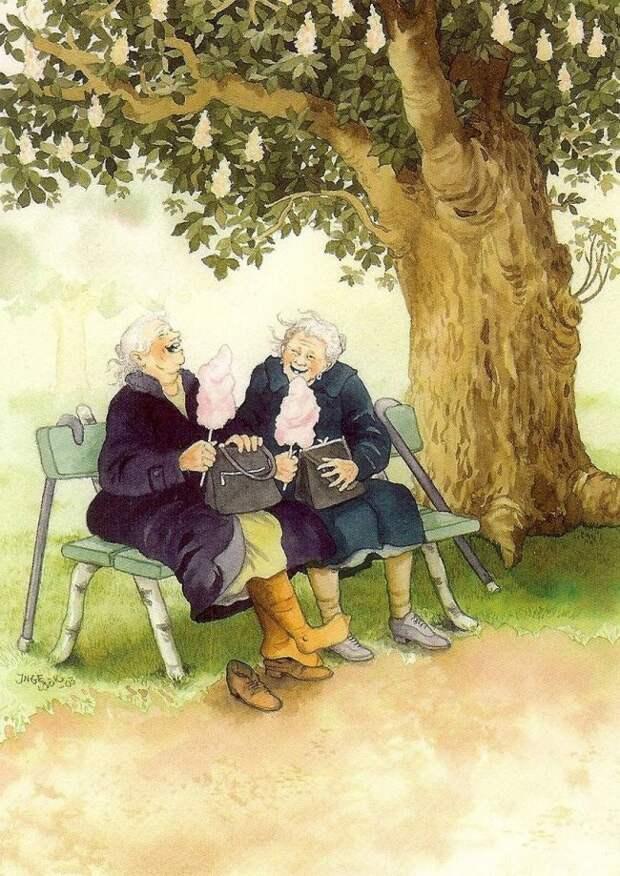 Вот как надо встречать старость