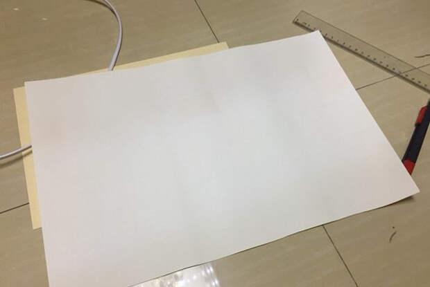 Светильник своими руками - из картона и шашлычных палочек (17) (598x401, 80Kb)