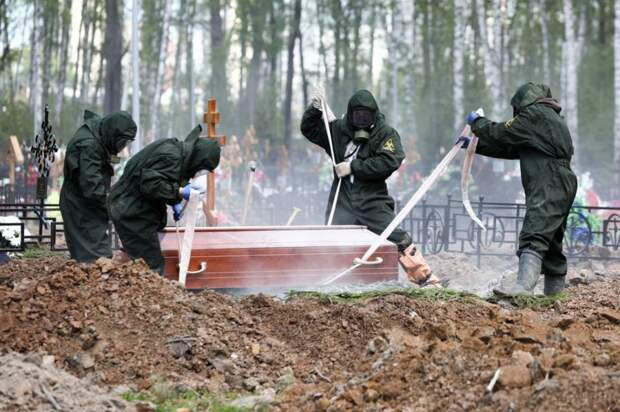 Похороны умершего от короны