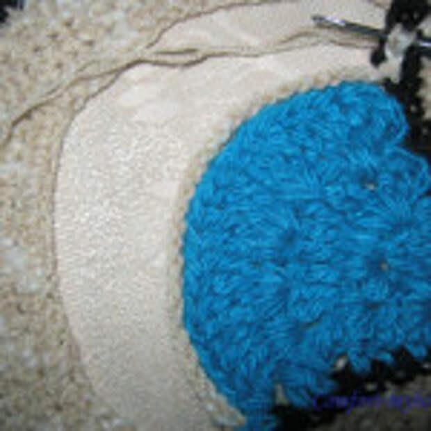 Оригинальный вязаный коврик (7)