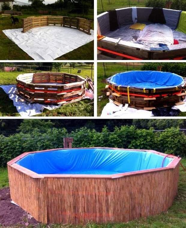 Дизайн бассейна для дачи или двора своими руками
