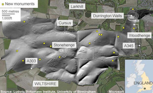 Секреты Стоунхенджа раскрывает подземная карта