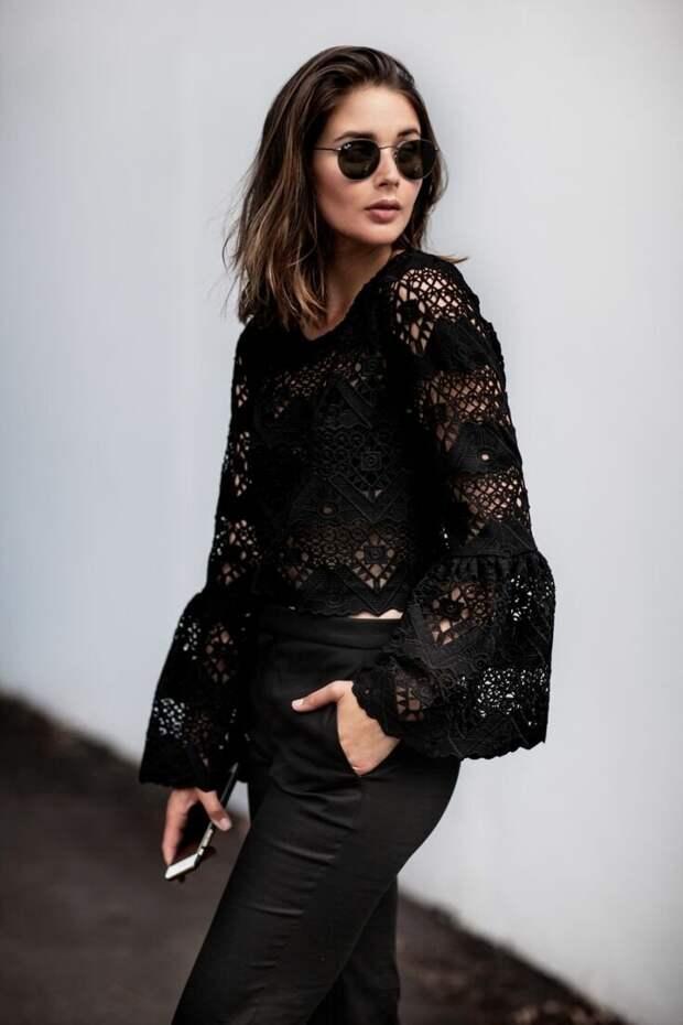 Актуальные идеи, с чем носить женственную кружевную блузку