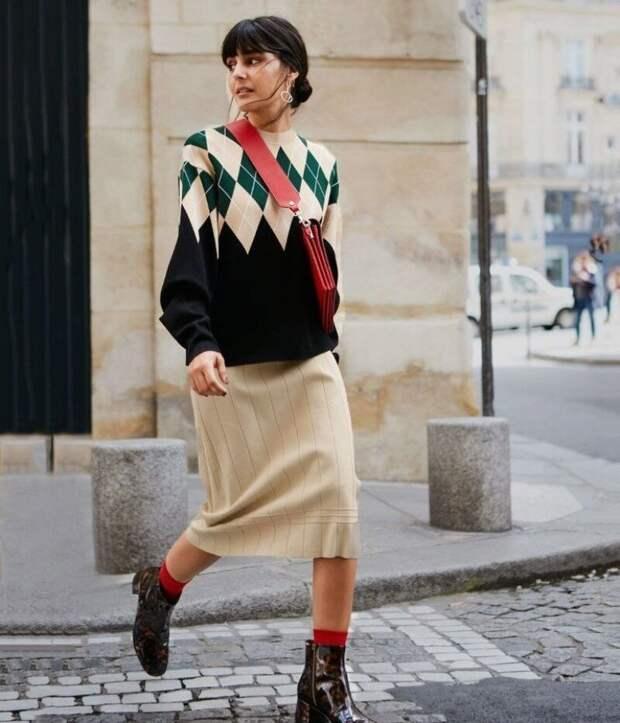 Как носить вещи с принтом «аргайл», чтобы быть ультрасовременной, а не старомодной