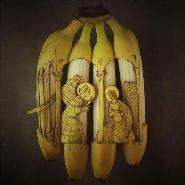 Художник превращает бананы в забавные скульптуры (20 фото)